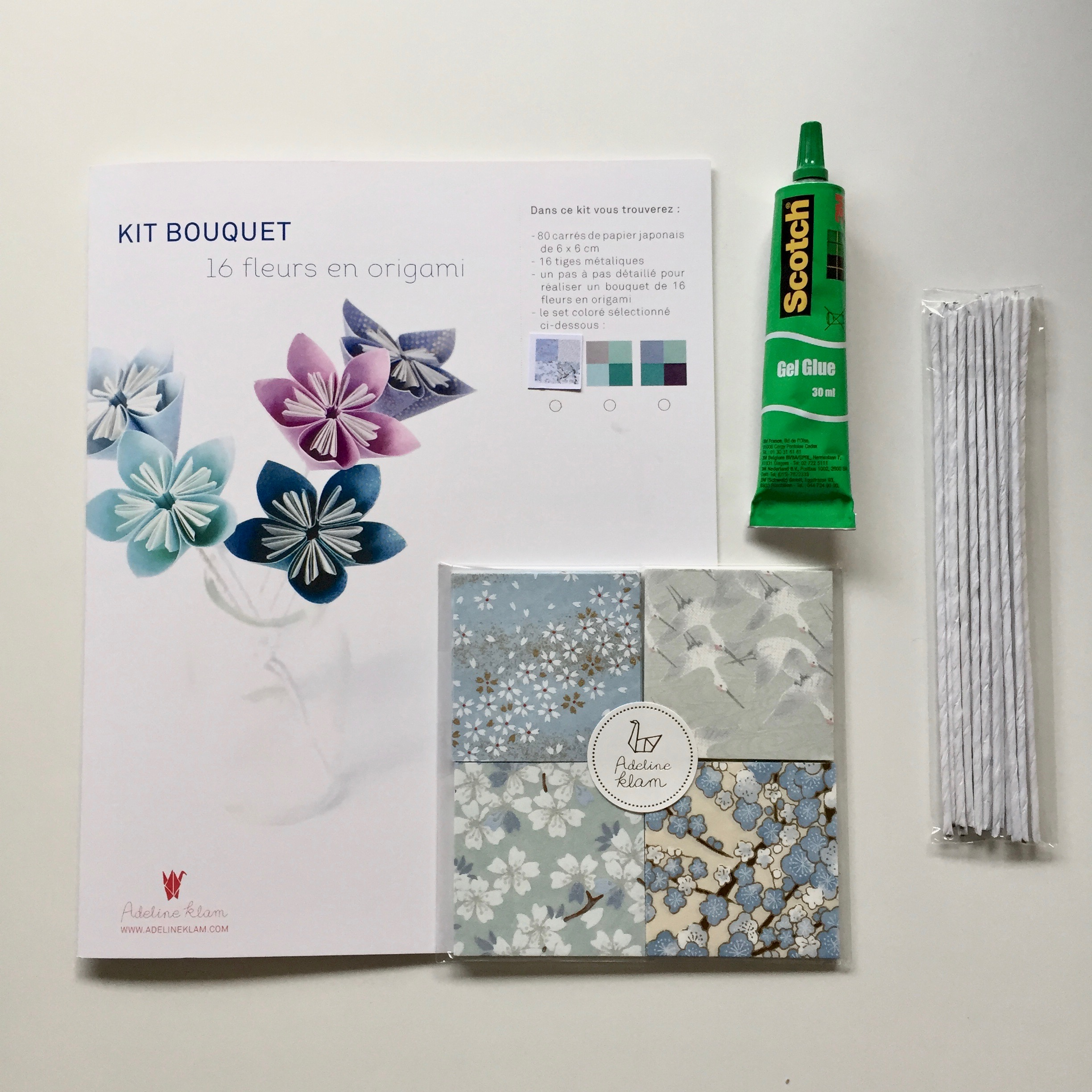 kit bouquet origami